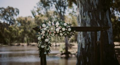 Serafino - Ceremonies by the lake, Australian gumtrees and lush green lawn