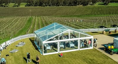 Fox Gordon Wines, Kuitpo Forest, McLaren Vale. Wedding venue offering incredible views and a space that allows for marquees