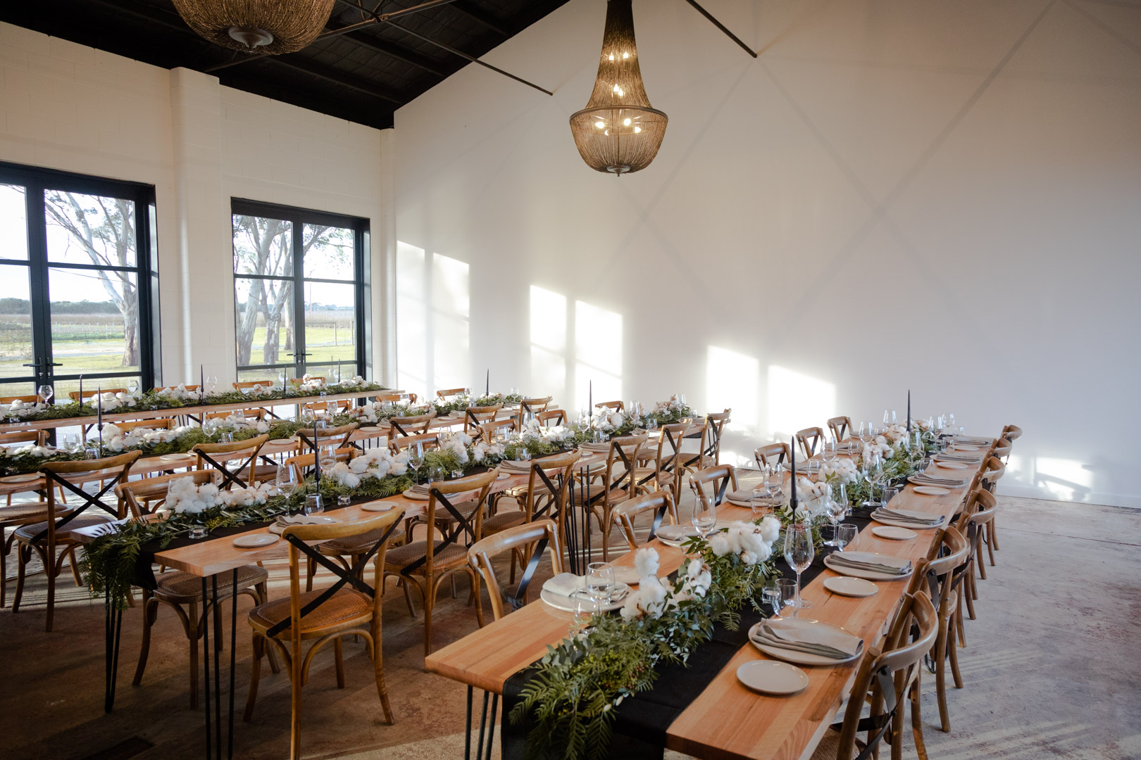 Ortus Wines, a flexible dry hire warehouse-style venue in the countryside of Willunga surrounded by gum trees and vines
