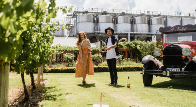 Exclusive to VENYU, St Hallett is a flexible venue situated in the heart of the Barossa Valley, nestled between acres of lush vineyards and the banks of the Para River.