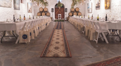 Operating since 1878 in a converted flour mill on the main street of McLaren Vale, Hardys Tintara is a beautiful rustic wedding venue with lots of history and lush gardens.