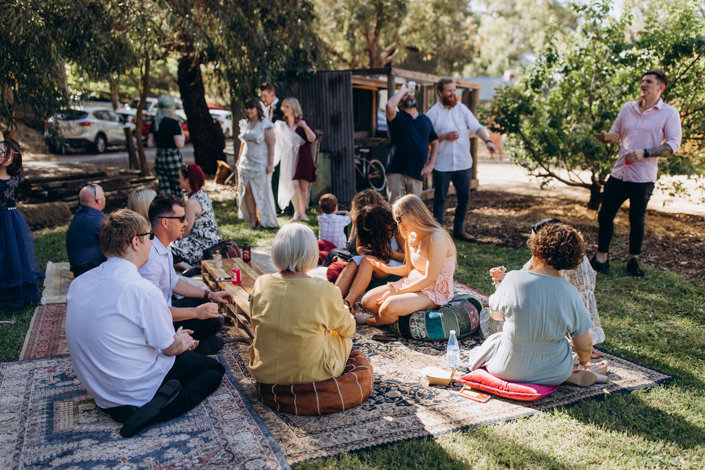 47 Quarry, Willunga Wedding Ceremony and Reception Venue. Fully flexible space on the Fleurieu Peninsula allowing couples to BYO drinks and catering